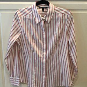 WHBM Striped Salmon Shirt